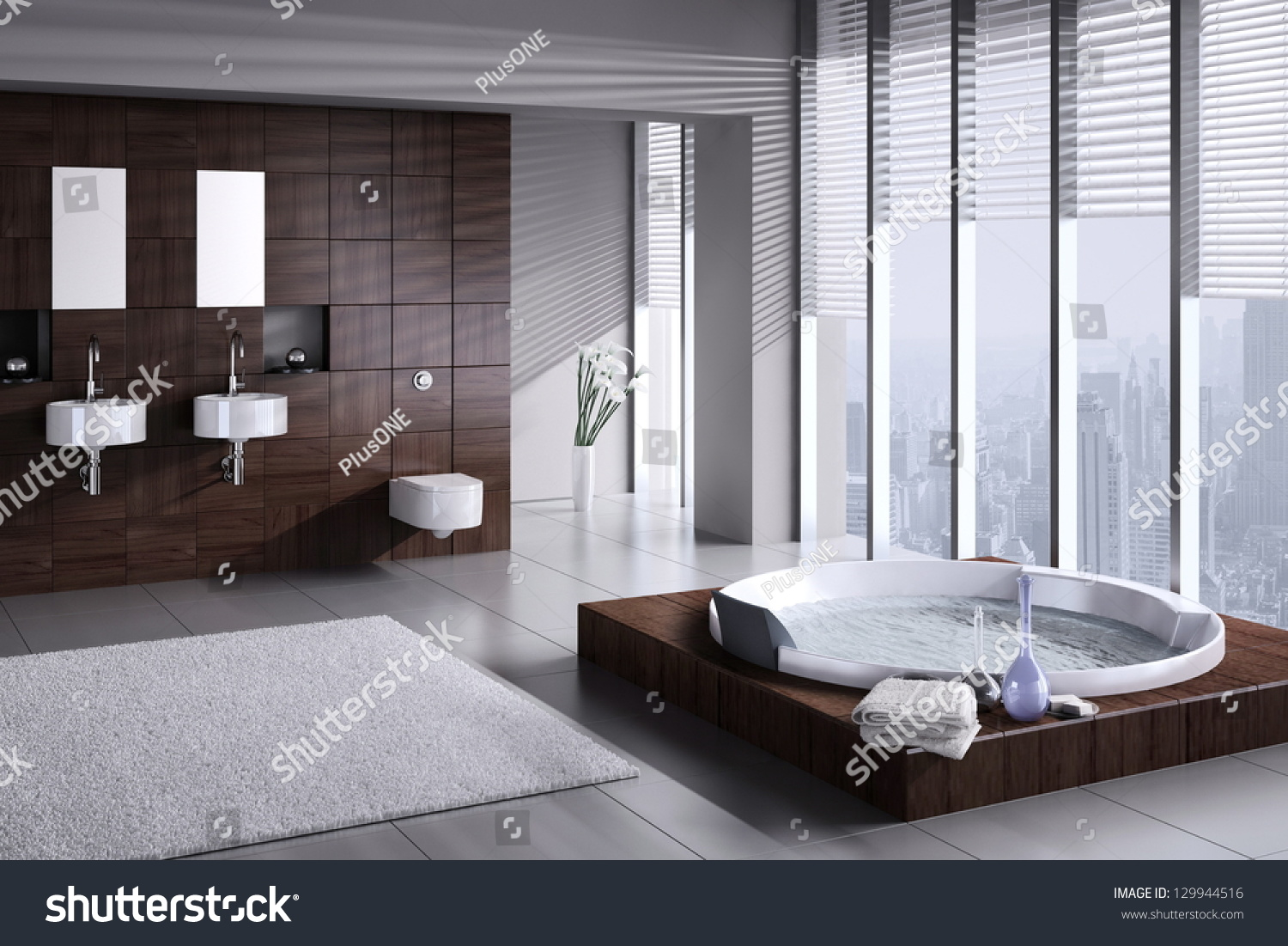 stock-photo-a-d-rendering-of-modern-bathroom-with-double-basin-and-jacuzzi-129944516