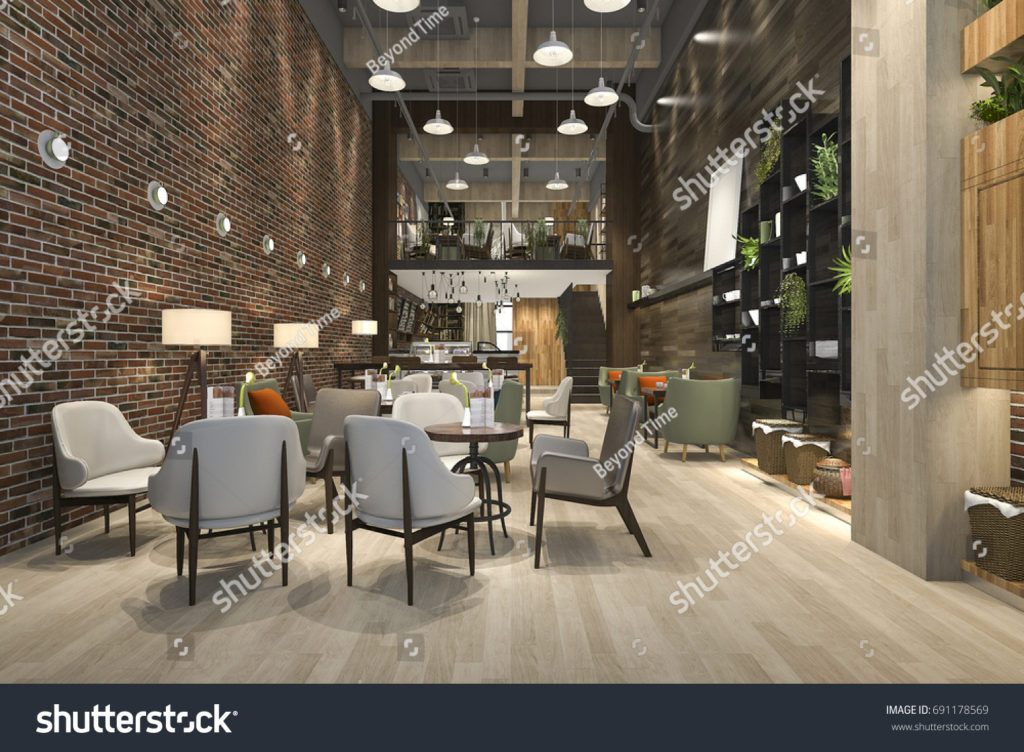 stock-photo--d-rendering-loft-and-luxury-hotel-reception-and-cafe-lounge-restaurant-691178569