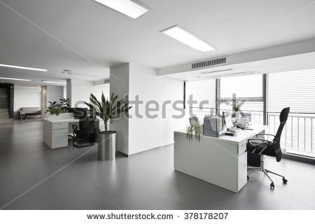 stock-photo-simple-and-stylish-office-environment-378178207