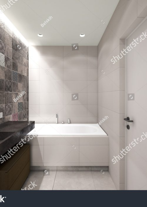 stock-photo-grey-bathroom-d-rendering-246020065