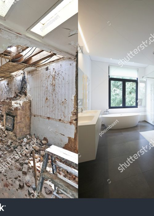 stock-photo-renovation-of-a-bathroom-before-and-after-in-horizontal-format-368682911